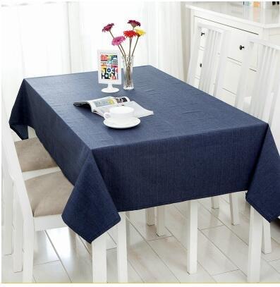 BLUELSS Nappe imperméable simple et moderne de couleur pure linge de table Nappe conférence café tissu bleu marine,table,60*60cm