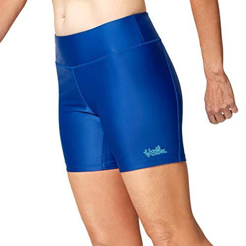 UV SKINZ UPF 50+ Women's Active Swim Shorts - Navy Blue - M
