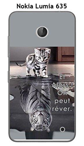 Onozo Coque Nokia Lumia 635 Design Chat Tigre Blanc Et Alors !