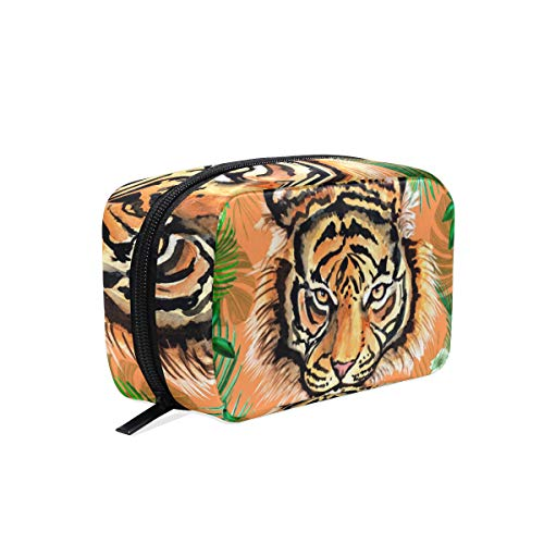 Trousse de maquillage jungle tiger pochette cosmétique pochette