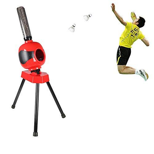 YUSDP Badminton-Trainer, automatischer Servierautomat, Einstellbarer Servierwinkel, Auswurfweite von 6 bis 10 Metern, Übungsgerät für Anfänger als Geschenk