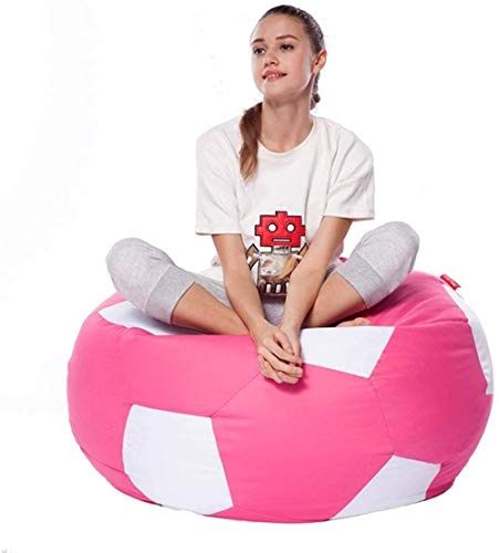 Canapé lit LHY- Lazy Sofa Football Bean Bag Cute Girl Simple Chambre Salon Loisirs Créatifs Petit Salon Chaise Brochage Hit Couleur Doux (Color : Pink)