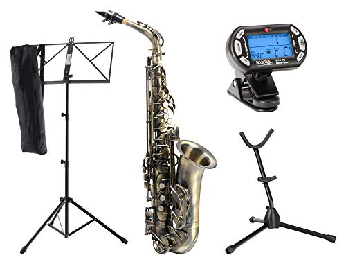 Instrumentos de viento Classic Cantabile AS-450 set de saxofón alto en color dorado vintage