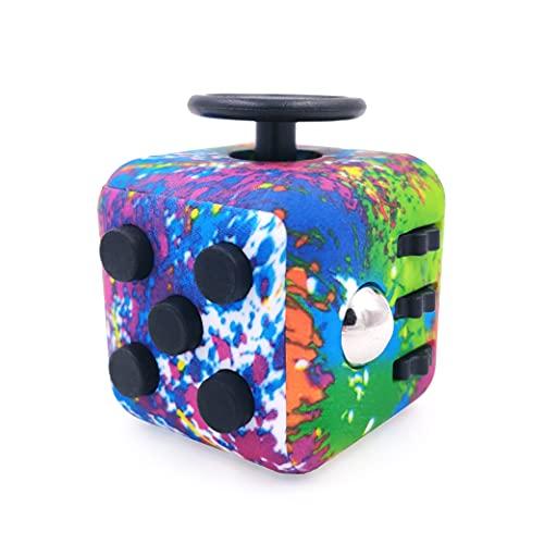 GreenBee Cubo Antiestres Niños Adultos - Fidget Toy Anti Estrés - Juguetes Antiestres con 6 Módulos Relajantes - Figet Toys Juguetes para Adultos Adolescentes y Niños - Abstracto