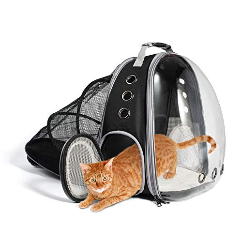 Laelr Cat Backpack, Expandable Cat Capsule Carrying Backpack Transparent Foldable Pet...