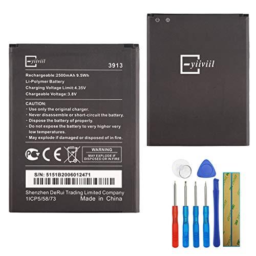 E-yiiviil WIKO 3913 - Batería de repuesto compatible con WIKO Robby/Kenny/Jerry 2/Lenny 4/Lenny 4 Plus/Harry con herramientas