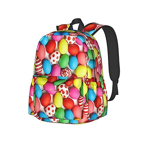 16.9 In Lightweight Casual Shoulders Backpack Book Bag,Water-Resistant Basics Custom School Bag Travel Bag Rucksack College Bookbag Laptop Backpacks- Delicious Cinnamon Rolls Bread Pattern