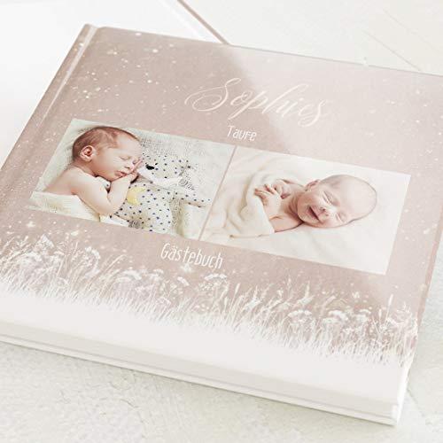 sendmoments Gästebuch mit Ihrem Wunschtext & -Bild gestalten Taufe, Traum, hochwertige...