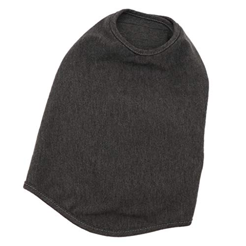 D DOLITY Veste D'anxiété Costume de avec Bande Réfléchissant en Coton Respirant, Lavable Sécurité en Nuit pour Chien - Gris l