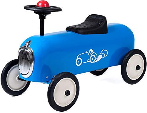 Baghera Rutschauto Racer Blau   Rutschfahrzeug für Kinder - zahlreiche lebensechte Details   Retro Rutschauto für Kinder ab 1 Jahr