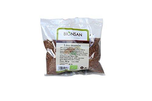 Bionsan Lino Marrón Ecologico 300 gr - 6 bolsas de 300 gr - Total: 1800 gr