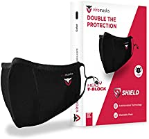 ViroMasks Shield - Premium Anti Viral Facemask - Comfortable, Reusable, Washable - Sports Friendly