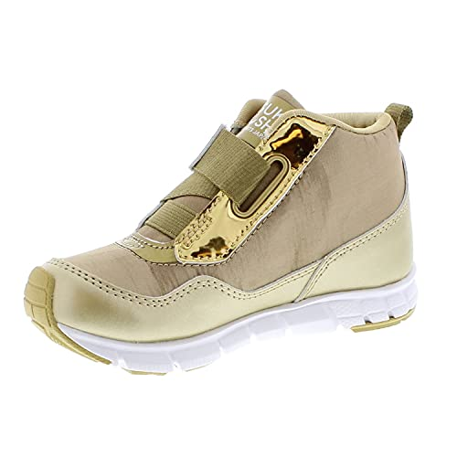TSUKIHOSHI 7510 Tokyo Waterproof Strap-Closure Machine-Washable Child Sneaker Shoe with Wide Toe Box and Slip-Resistant, Non-Marking Outsole - Gold/Honey, 12 Little Kid (4-8 Years)