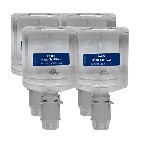 Pacific Blue Ultra Foam Hand Sanitizer Refill by GP PRO (Georgia-Pacific), Fragrance-Free, Dye-Free, 43335, 1000mL Per Refill, 4 Refills Per Case