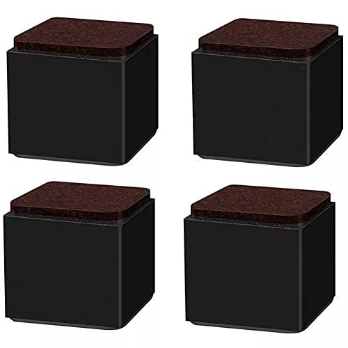 ZYCH Elevadores de Muebles de Acero al Carbono,4 Unidades Autoadhesivos Elevador de Muebles, Elevador de Muebles,Elevador de Mesa,para Cama,Patas de Mesa,Muebles,Sofás 60 * 60 * 52mm