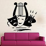 Tianpengyuanshuai Etiqueta de la Pared Arte Teatro Artista música Vinilo Ventana calcomanía Dormitorio Sala de Estar decoración del hogar 57X58 cm
