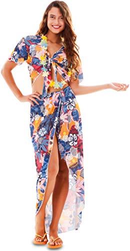 Fyasa Disfraz de chica hawaiana grande, (701846-T04)