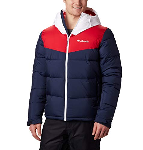 Columbia Iceline Ridge Chaqueta de esquí, Hombre, Rojo, Talla: L