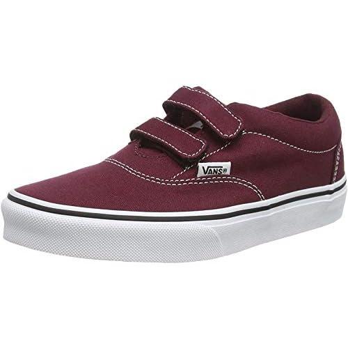 Vans Doheny V-Velcro, Sneaker, Rosso ((Canvas) Port Royale/White 8J7), 34.5 EU