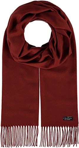 FRAAS Cashmink® Solid Color Woven Scarf for Men Women 14x79in - Made in Germany Rost