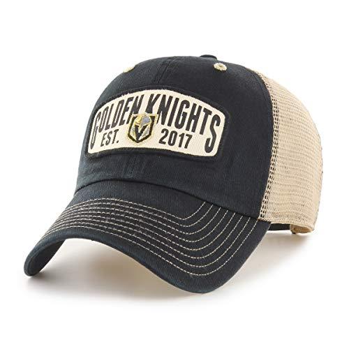 OTS NHL Vegas Golden Knights Men's Woodford Challenger Adjustable Hat, Team Color, One Size