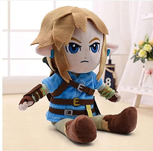 XIAIEWEI Zelda Peluches Dibujos Animados Link Boy con Espada Muñeco de Peluche Suave para niños 26Cm