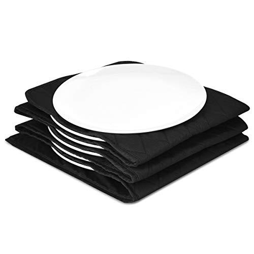 Navaris Calentador de platos eléctrico - Calientaplatos para mantener 10x plato de Ø 32 CM caliente - Bandeja calienta plato de 34 x 30 x 3 CM negro