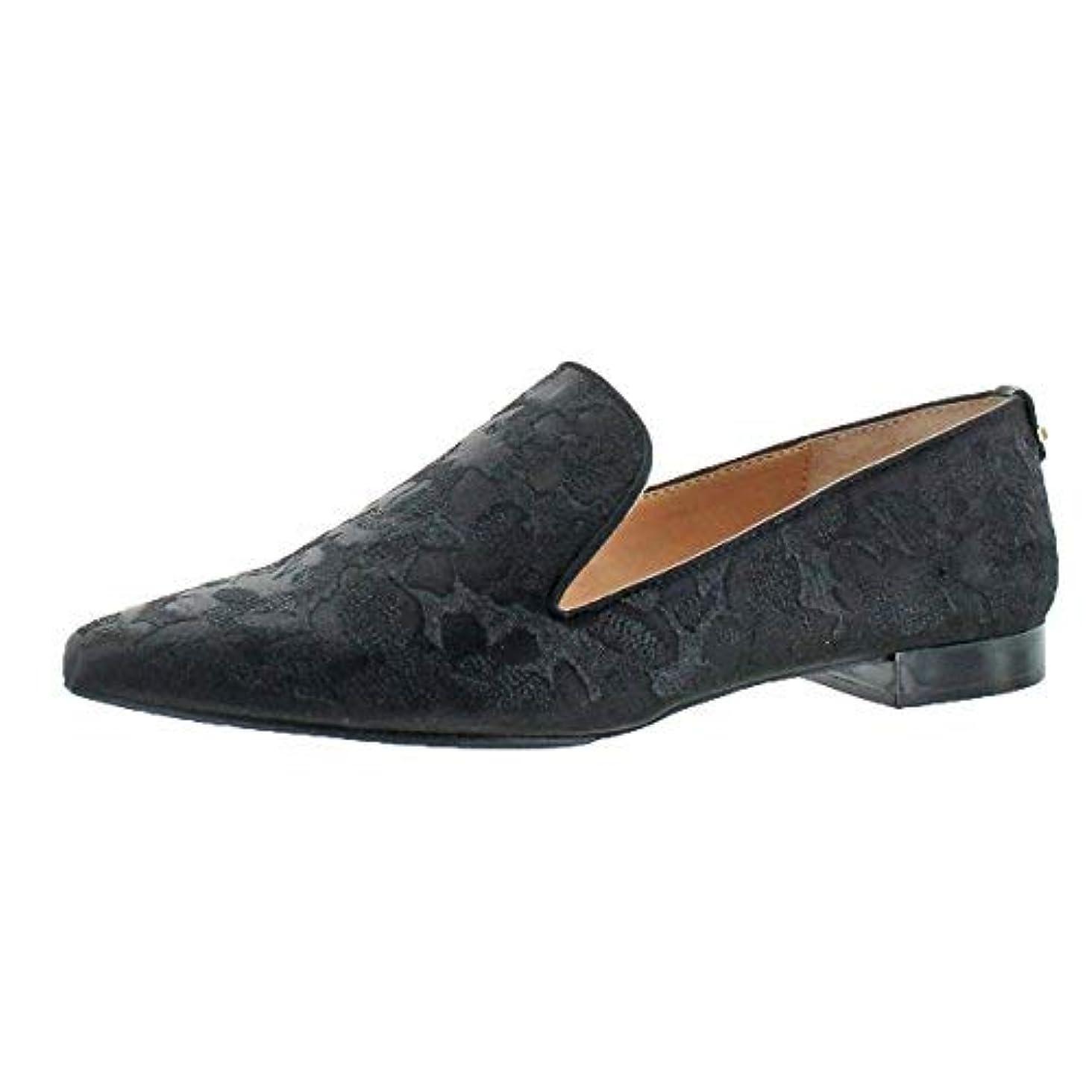 検索エンジン最適化観察する凍結[Calvin Klein] Womens Elin Crosshatch flower STN/Nap Fabric Pointed Toe Loafers [並行輸入品]