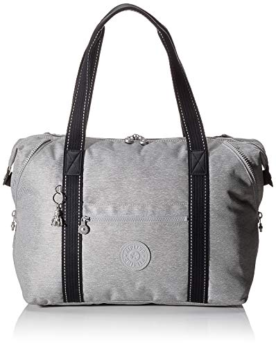 Kipling ART M - Bolsa de tela y de playa, 26 liters, Gris (CHALK GREY)