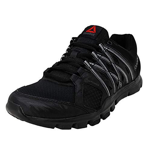 Reebok Men's Yourflex Train 8.0 Black/Ash Grey Ankle-High Training Shoes - 8.5M