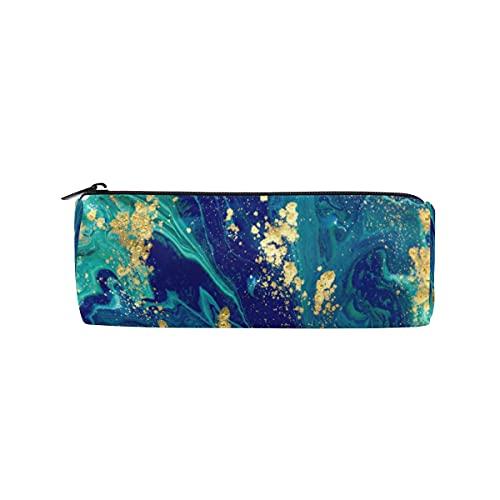 HaJie - Estuche para lápices con venas líquidas, textura de mármol, con cremallera, bolsa organizadora de papelería, para niñas, niños, mujeres, hombres