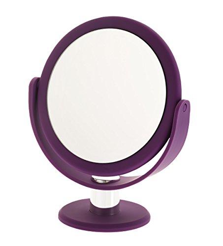 Danielle Enterprises Soft Touch 10X Magnification Round Vanity Mirror, Purple by Danielle Enterprises