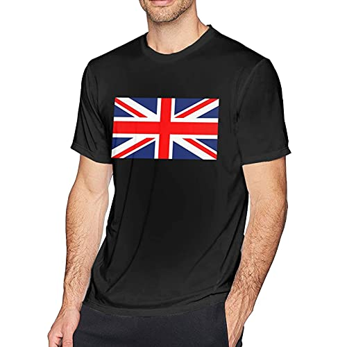 Camisetas United Kingdom Flag Camiseta de Manga Corta de algodón con Cuello Redondo y Moda Simple para Hombre