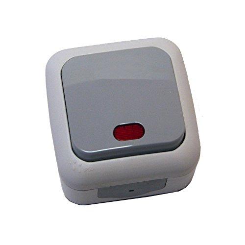 Aufputz Schalter Programm Feuchtraum IP54 IP44 AP Kontroll Ausschalter