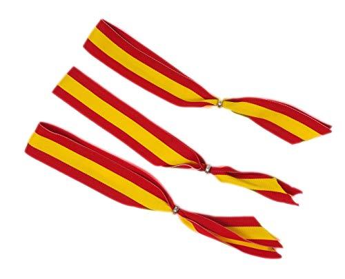 GOS Best Supplies Pack de 3 Cintas para Colgar en el Retrovisor del Coche | Colores Amarillo y Rojo | Colores de la Bandera de España