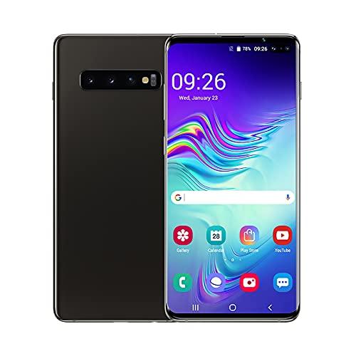YouthRM Teléfono Desbloqueado, Teléfono Inteligente S10 + 2G / 3G Desbloqueado, Android 10,2GB RAM + 16GB ROM, Incluye Tarjeta TF de 128GB, Pantalla de Gota de Rocío de 6.5 Pulgadas,Black