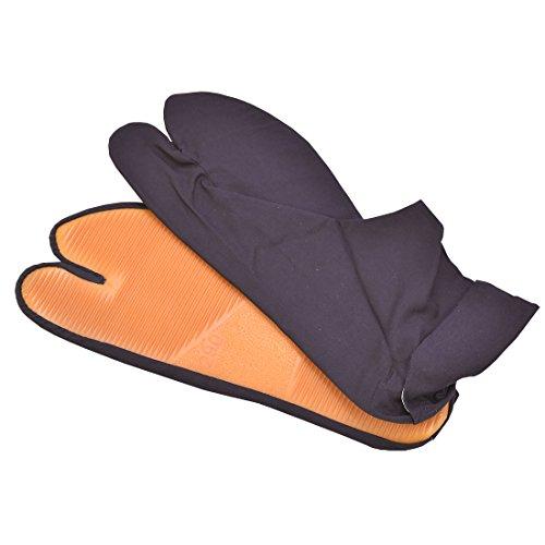 [永徳] 祭り足袋 地下足袋 はだし足袋 ゴム底 子供用〜大人用 ユニセックス 紺 24.5cm