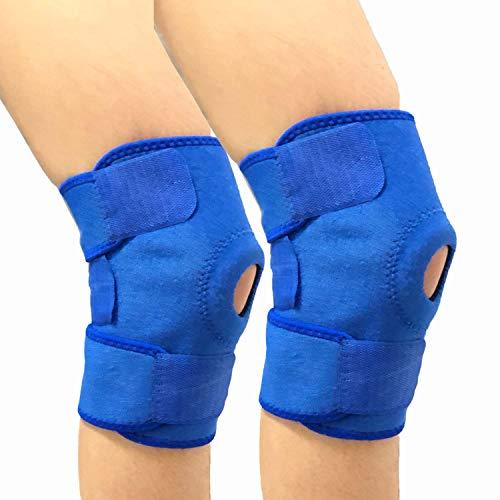 Xpzz-UK Rodillera con estabilizador de rótula Abierta y Soporte de Neopreno Totalmente Ajustable para la Artritis, Alivio del Dolor de articulaciones, Dolor de menisco, Ajustable y Transpirable