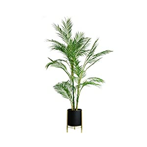 Large Artificial Tree Hawaii Bamboo Leaves Green Plants Wedding Home Office Bonsai Decorative Potted Plants Tree Fake Artificial Plants (Size : 143cm)