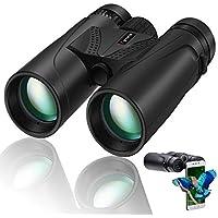 Cycvis Superior HD 10 x 42 Inch Waterproof Binoculars with Smartphone Holder (Black)