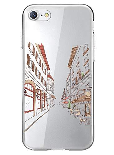 Oihxse Compatibile per Cover iPhone 8 7 Cover iPhone SE(2020), Trasparente Custodia in Silicone con Protezione Flessibile e TPU di Alta Case Antiurto Antigraffio Morbido Ultra Slim (A1)