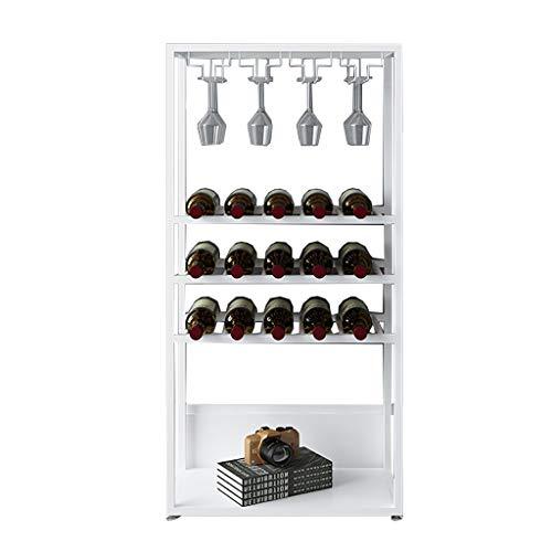 Armarios para vino Botelleros Estante para vinos Estante Pequeño refrigerador para vinos Estantería de almacenamiento Estantería de hierro Arte Aterrizaje Moderno simple Barra de bar restaurante sala