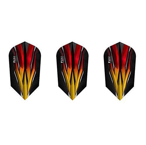 Harrows Fire Slim Darts Flights - 5 Sets (15 Flights) Flame
