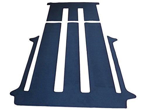 autix Gastraum und Kofferraum Teppich Fußmatte grau meliert Velour für 2 Schiebetüren und...