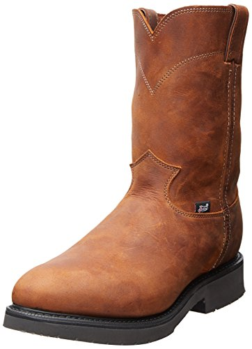 Justin Original Work Men's Double Comfort Steel Toe, Aged Bark, 7 D US