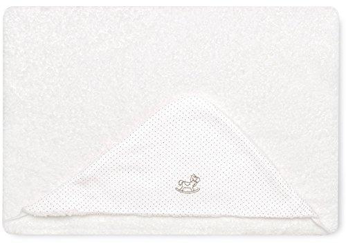Bimbi 00705110 – Maxicapa Motif Dots, 100 x 100 cm, couleur blanc et lin