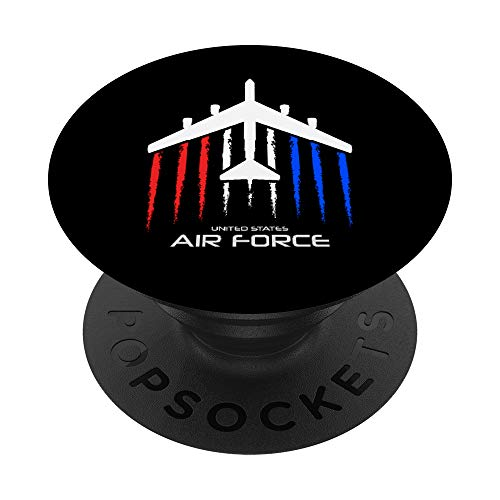 Air force B-52 Bomber Shirt American Flag Veteran Men Women PopSockets PopGrip: Swappable Grip for Phones & Tablets