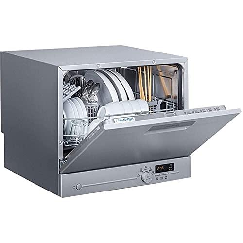DJDLLZY Lavavajillas, portátil Compacto for máquinas lavavajillas, 23000Pa Lavado a Alta presión, conexión automática de Agua, encimera Dishwasherdish Lavadora
