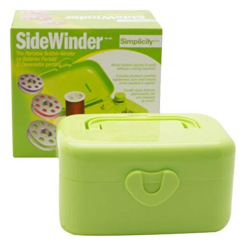 Simplicity 88178GRNA Compact Green Portable Sidewinder Bobbin Winder, 5.5'' L x 4'' W