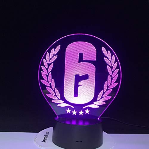 Lámpara de mesa 3D con logotipo creativo LED de varios colores acrílico USB luz de noche decoración dormitorio lámpara de sala de estar regalo